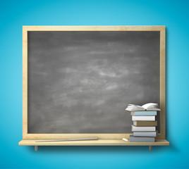 blackboard and book