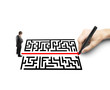 hand drawing a labyrinth