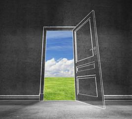 open door in sky
