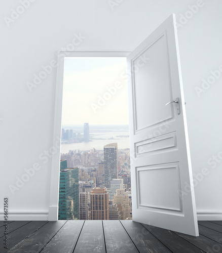 door to city
