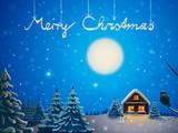 winter landscape - Merry Christmas