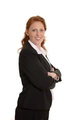 Hübsche rothaarige Geschäftsfrau Portrait