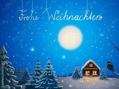 winter landscape - Frohe Weihnachten