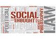 Political philosophy Word Cloud Concept