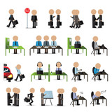 Business People Set - Isolated On White Background