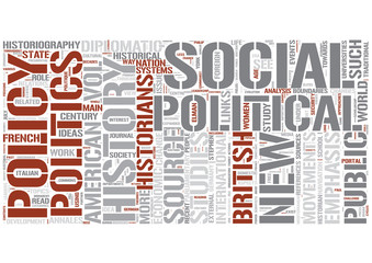 Political history Word Cloud Concept