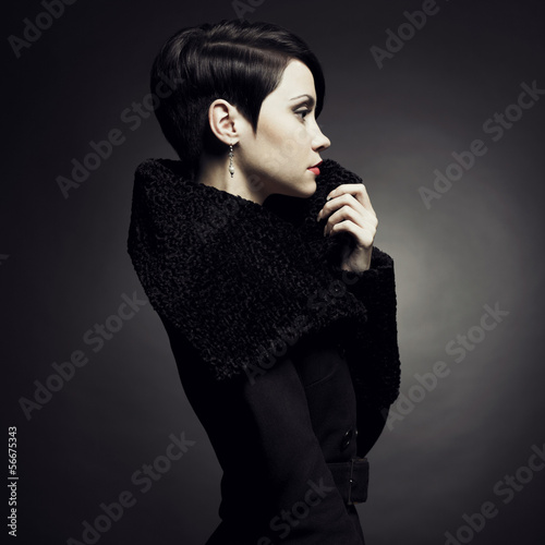 Elegant lady in coat