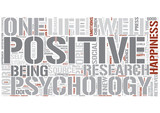 Positive psychology Word Cloud Concept