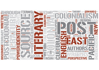 Post-colonial literature Word Cloud Concept