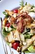 Salade, fraîcheur, lardons, tomate, parmesan, croutons
