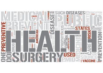 Preventive medicine Word Cloud Concept