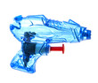 Blue plastic water pistol isolated on a white background
