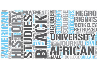 African American studies Word Cloud Concept