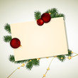 Vector Illustration of a Decorative Christmas Greeting Card