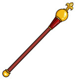 vector cartoon royal scepter