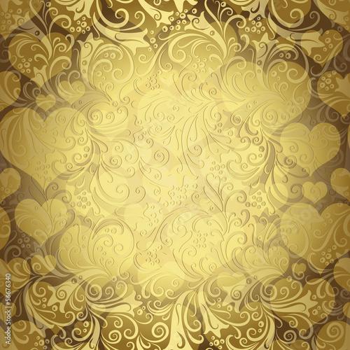 Gold seamless valentine pattern