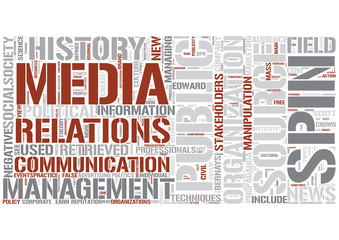 Public relations Word Cloud Concept