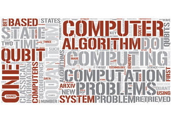 Quantum computing Word Cloud Concept