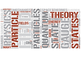 Quantum field theory Word Cloud Concept