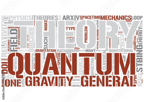 Quantum gravity Word Cloud Concept