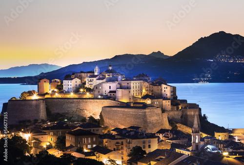 Poster Ville de Calvi Corse Citadelle