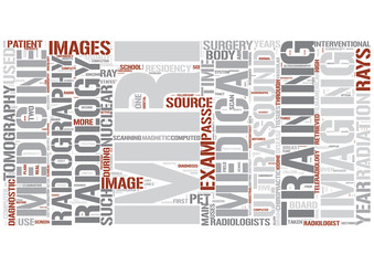 Radiology Word Cloud Concept