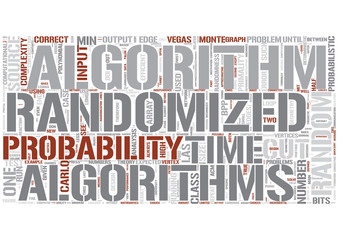 Randomized algorithms Word Cloud Concept