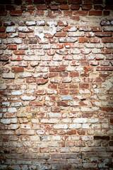 brick wall with vintage look