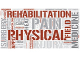 Rehabilitation medicine Word Cloud Concept