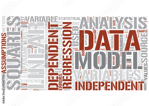 Regression analysis Word Cloud Concept