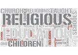Religious education Word Cloud Concept