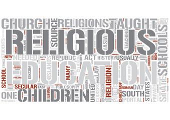 Religious education Word Cloud Concept