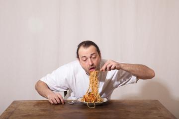 Spagetti essen