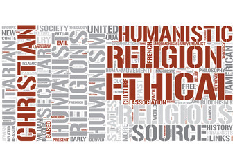 Religious humanism Word Cloud Concept