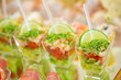 Appetizers, gourmet food - vegetable salad and prosciutto, cater - 56678723