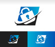 Swoosh Security Lock Icon