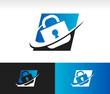 Swoosh Security Lock Icon