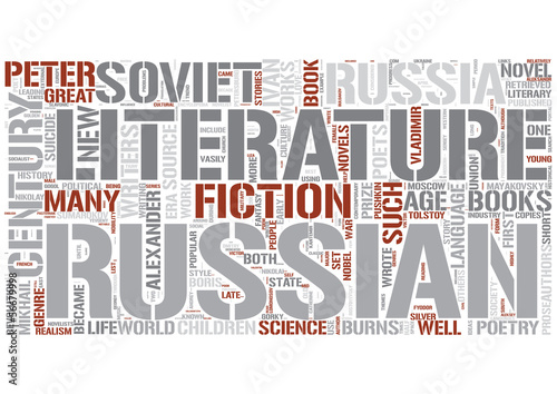Russian literature Word Cloud Concept