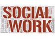 School social worker Word Cloud Concept