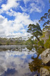 Tasmanian lake reflection
