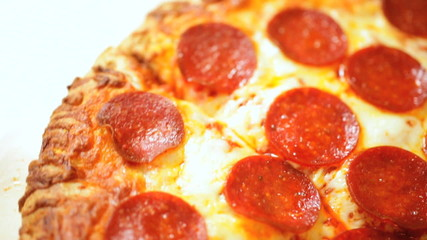 Slices Spicy Pepperoni Sausage Fresh Pizza
