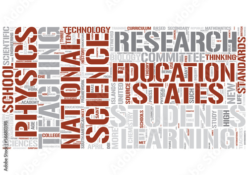 Science education Word Cloud Concept
