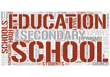 Secondary education Word Cloud Concept