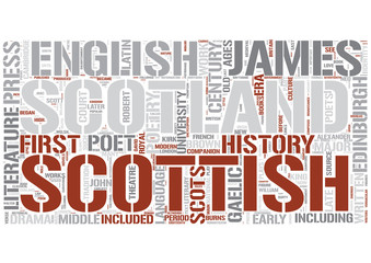 Scottish literature Word Cloud Concept