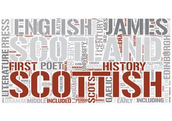 Scottish literature Word Cloud Concept