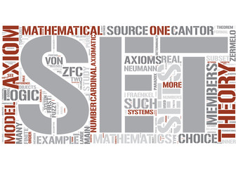 Set theory Word Cloud Concept