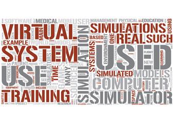 Simulation Word Cloud Concept