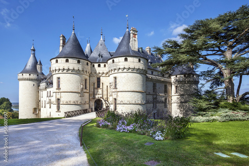 Chaumont-sur-Loire castle. France. Châteaux of the Loire Valley