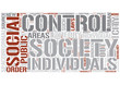 Social control Word Cloud Concept