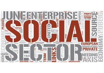 Social economy Word Cloud Concept